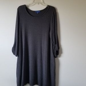 Grey Fleece Dress